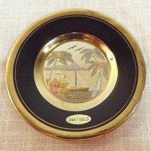 "Japanese 24K Gilded Pin Dish ""The Art of Chokin"""